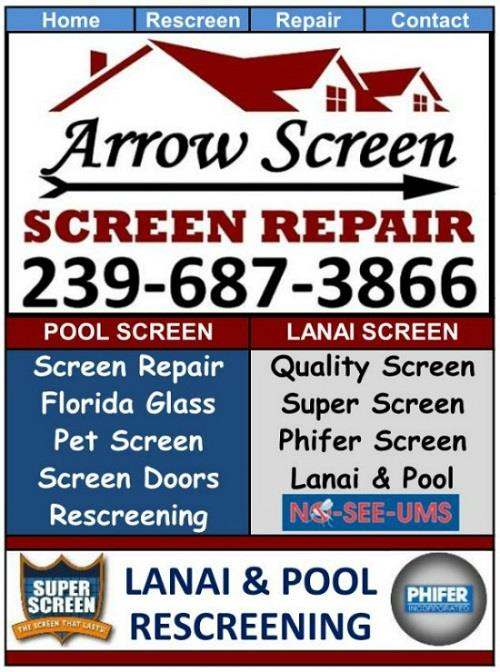 Estero Lanai Screen Repair